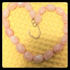 Jewelry - Chunky Rose Quartz Choker